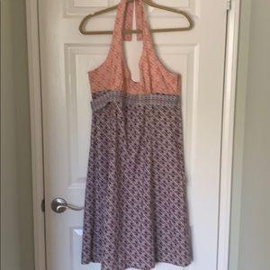 Athleta Orange and Purple Halter Dress